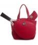 Court Couture Cassanova Tennis Bag (Quilted Ruby) - Court Couture Tennis Bags