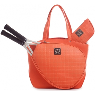 Court Couture Cassanova Tennis Bag (Quilted Tangerine)