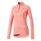 Adidas Women's Supernova Half Zip Tennis Warm-Up (Easy Coral Heather) - Women's Jackets