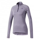 Adidas Women's Supernova Half Zip Tennis Warm-Up (Noble Ink/Heather) - Women's Jackets