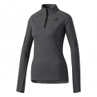Adidas Women's Supernova Half Zip Tennis Warm-Up (Black Heather) - Women's Jackets