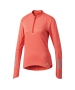 Adidas Women's Response Half Zip Tennis Warm-Up (Core Red) - Women's Jackets