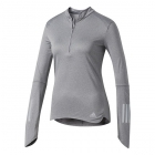 Adidas Women's Response Half Zip Tennis Warm-Up (Grey) - Women's Jackets