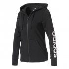 Adidas Women's Essentials Linear Full-Zip Hoodie (Black) - Women's Jackets