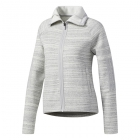 Adidas Women's Fleece Tennis Cover-Up (Cream White Coarse Melange) - Women's Jackets