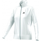 Adidas Women's AdiPure Core Warm-Up Jacket (White/Black) - Women's Outerwear Jackets Tennis Apparel