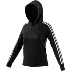 Adidas Women's Three Stripe Cotton Tennis Hoodie (Black) - Women's Jackets