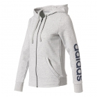 Adidas Women's Essentials Linear Full-Zip Hoodie (White) - Women's Jackets