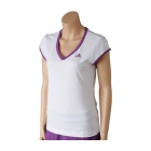 Adidas Women's Sequentials Galaxy Cap-Sleeve (White/ Purple) - Women's Tops Cap-Sleeve Shirts Tennis Apparel