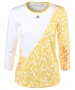 Adidas Women's Stella McCartney L/S (White/Yellow) - Adidas Tennis Apparel