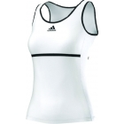 Adidas Sequentials Classical Tank (White/Black) - Adidas Women's Apparel Tennis Apparel