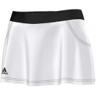 Adidas Women's Club Skort (White/ Black) - Women's Tennis Apparel