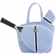 Court Couture Cassanova Tennis Bag (Striped Sky Blue) - Designer Tennis Bags - Luxury Fabrics and Ultimate Functionality