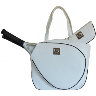 Court Couture Cassanova Tennis Bag (White Pebble)