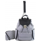 Court Couture Hampton Tennis Backpack (Houndstooth Black) - - Best Selling Tennis Gear. Discover What Other Players are Buying!