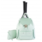 Court Couture Hampton Tennis Backpack (Houndstooth Seafoam) - 15% Off Court Couture Designer Tennis Bags for Women