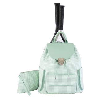 Court Couture Hampton Tennis Backpack (Houndstooth Seafoam)