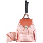 Court Couture Hampton Tennis Backpack (Houndstooth Sunset) - 15% Off Court Couture Designer Tennis Bags for Women