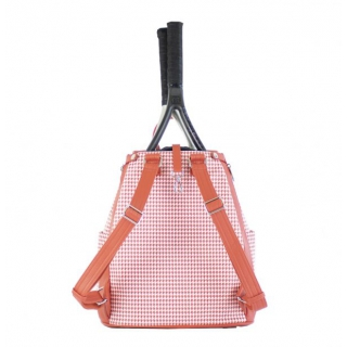Court Couture Hampton Tennis Backpack (Houndstooth Sunset)
