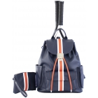 Court Couture Hampton Tennis Backpack (Striped Indigo) - 15% Off Court Couture Designer Tennis Bags for Women