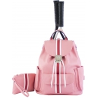 Court Couture Hampton Tennis Backpack (Striped Razzmatazz) - 15% Off Court Couture Designer Tennis Bags for Women