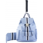 Court Couture Hampton Tennis Backpack (Striped Sky Blue) - 15% Off Court Couture Designer Tennis Bags for Women