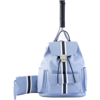Court Couture Hampton Tennis Backpack (Striped Sky Blue)