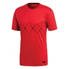 Adidas Men's Barricade Tennis Tee (Argyle Scarlet/Black) - Men's Tops