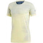 Adidas Men's Printed Tennis Tee Shirt (Semi-Frozen Yellow/Noble Indigo) - Adidas Men's Tennis Apparel