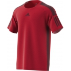 Adidas Men's Barricade Tennis Tee Shirt (Scarlet/Dark Burgundy) - Tennis Apparel Brands