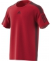 Adidas Men's Barricade Tennis Tee Shirt (Scarlet/Dark Burgundy) - Men's T-Shirts & Crew Necks