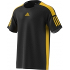 Adidas Men's Barricade Tennis Tee Shirt (Black/Equestrian Yellow) - Adidas Tennis Apparel