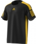 Adidas Men's Barricade Tennis Tee Shirt (Black/Equestrian Yellow) - Men's T-Shirts & Crew Necks
