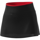 Adidas Women's Barricade Tennis Skirt (Black/Scarlet) - Women's Skirts