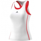 Adidas Women's Barricade Tennis Tank (White/Scarlet) - Tennis Apparel
