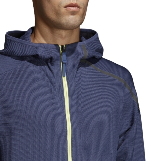 Adidas Men's Z.N.E. Tennis Warm-Up Hoodie (Indigo Blue)