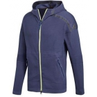Adidas Men's Z.N.E. Tennis Warm-Up Hoodie (Indigo Blue) - Adidas Men's Tennis Jackets, Pants and Sweats