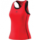 Adidas Women's Barricade Tennis Tank (Scarlet/Black) - Adidas Women's Tennis Shirts - Tops and Tanks