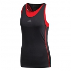 Adidas Women's Barricade Tennis Tank (Black/Scarlet) - Women's Tank Tops