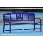 Custom Logo Apex 8' Bench   - Tennis Court Equipment