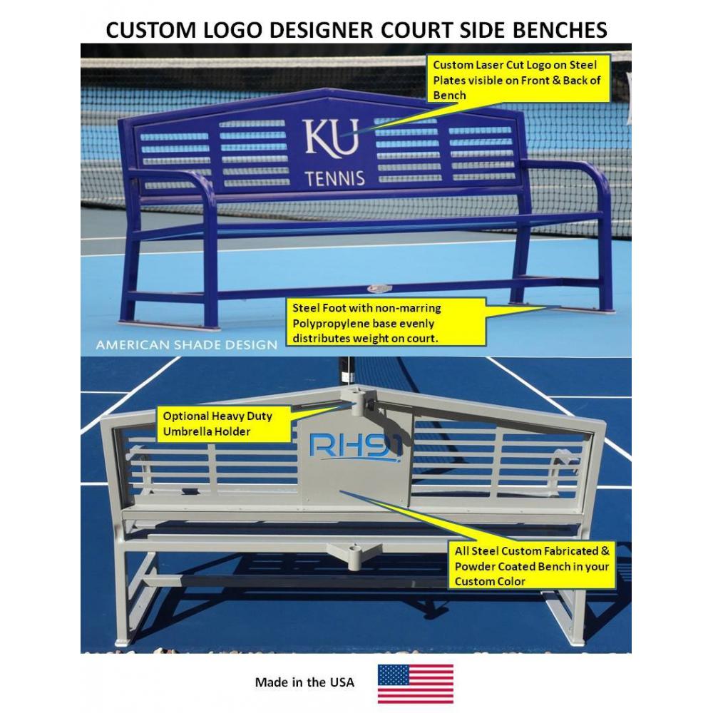 Custom Logo Apex 8' Bench