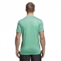 Adidas Men's Printed Tennis Tee Shirt (Hi-Res Green/Black)