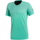 Adidas Men's Printed Tennis Tee Shirt (Hi-Res Green/Black) - Adidas Men's Tennis Apparel