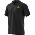 Adidas Men's Barricade Tennis Polo (Black/Equestrian Yellow) - Tennis Apparel Brands