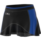 Adidas Women's by Stella McCartney Barricade Tennis Skirt (Black/Bold Blue) - Women's Skirts