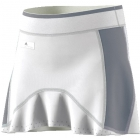 Adidas Girls' Barricade Tennis Skirt (White/Grey) - Discount Tennis Apparel