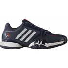 Adidas Barricade Novak Pro Tennis Shoes (Navy/White/Red) - Men's Tennis Shoes