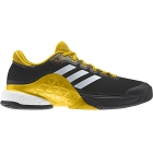 Adidas Men's Barricade 2017 Boost Tennis Shoes (Core Black/White/Equestrian Yellow) - Men's Tennis Shoes