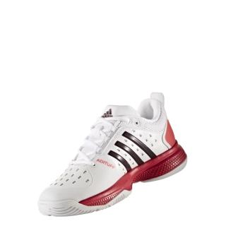 on sale 8b2d1 416ee Adidas Womens Barricade Classic Bounce Tennis Shoes (WhiteDark  BurgundyEnergy Pink)