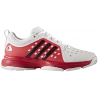Adidas Women's Barricade Classic Bounce Tennis Shoes (White/Dark Burgundy/Energy Pink) USED - Performance Tennis Shoes